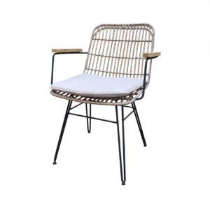 wicker dining stoel